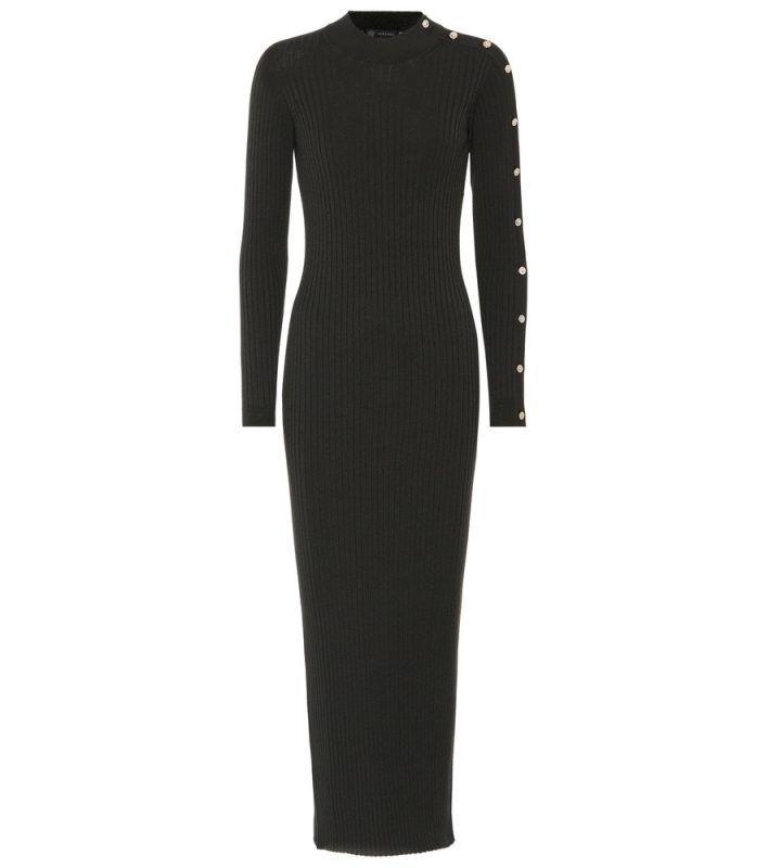 Versace Pulloverkleid mit Wolle