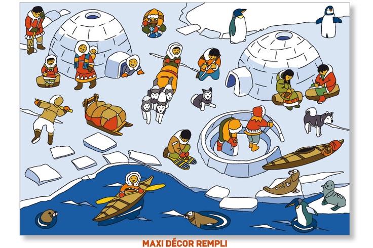 Praatplaat : Scène de vie Pôle Nord