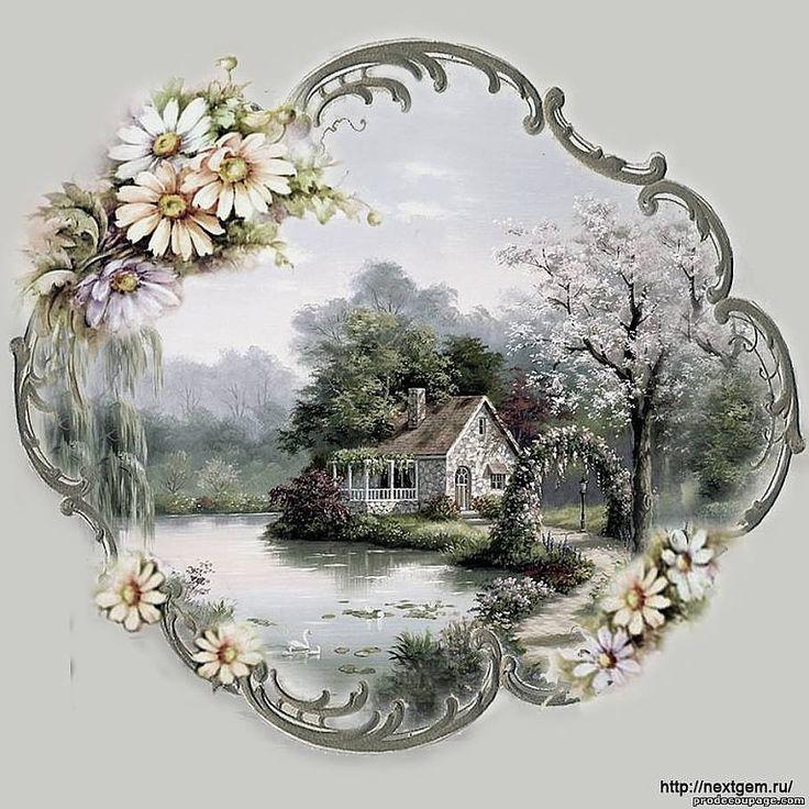 Декупаж картинки для распечатки пейзаж