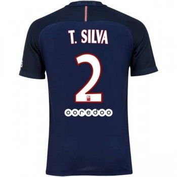 Paris Saint Germain PSG 16-17 Thiago Silva 2 Hemmatröja Kortärmad   #Billiga  #fotbollströjor