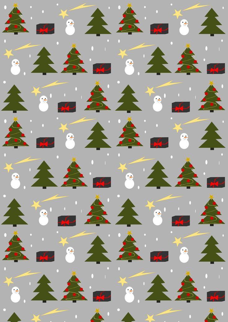 Free printable Christmas joy wrapping paper - ausdruckbares Geschenkpapier - freebie | MeinLilaPark – DIY printables and downloads