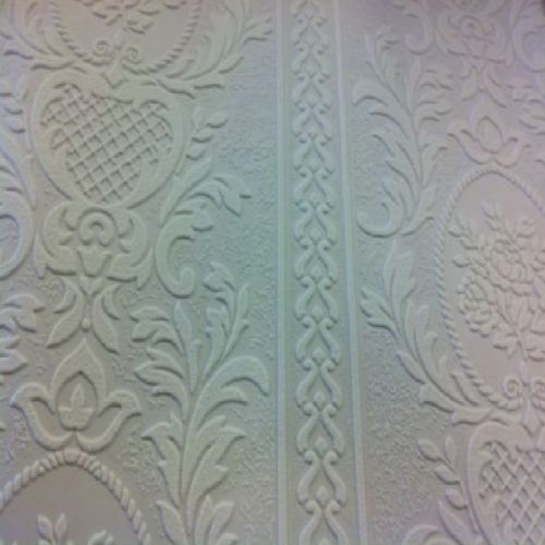 Details About Anaglypta White Blown Vinyl Embossed