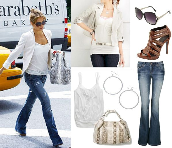 Kate Hudson in white blazer: White Blazers, Casual Summer, Blazers Outfit, Kate Hudson, Cities Chic, White Shirts, Simple Chic, White Jackets, Casual Looks