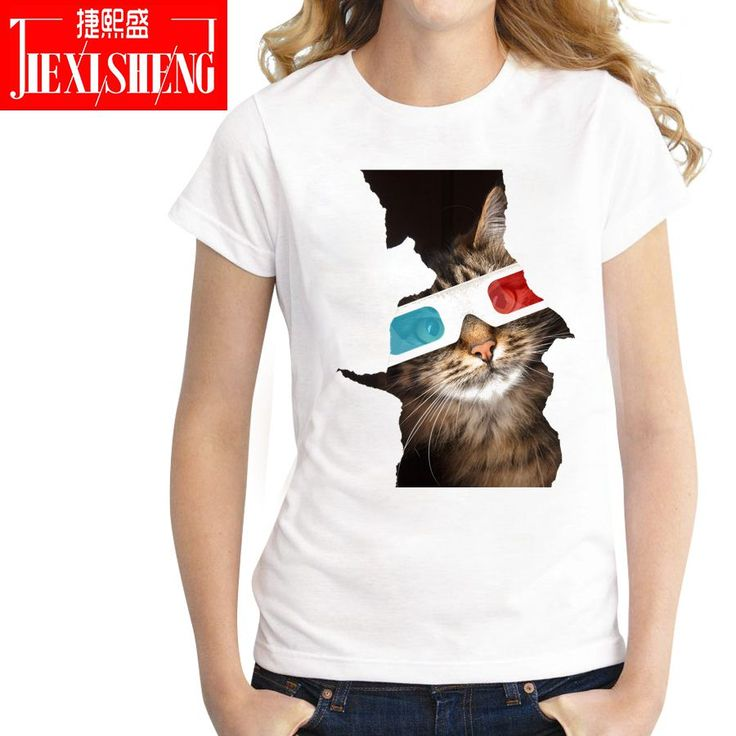 Funny Summer Naughty Cat 3D Lovely T Shirt Women Printing Originality O-Neck Short Sleeve T-shirt Tops Tee. Yesterday's price: US $8.20 (6.70 EUR). Today's price: US $5.99 (4.96 EUR). Discount: 27%.