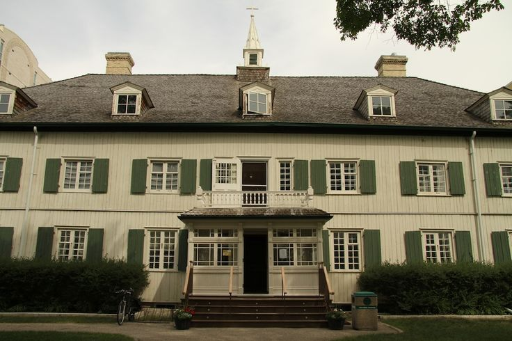 """#ExploreMB: Adventures in Saint-Boniface. """"The Grey Nuns' Convent is Winnipeg's oldest building and the oldest oak log building in North America and it's featured in the first photograph ever taken in Western Canada! Today it houses the Saint-Boniface Museum. Needless to say, it oozes Manitoba history."""""""