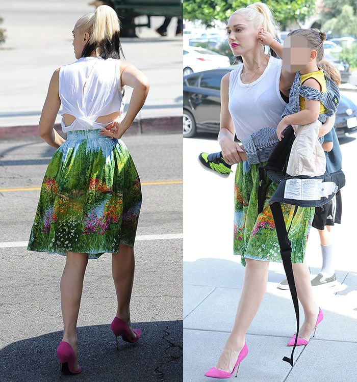 Gwen Stefani in Bernie Dexter skirt