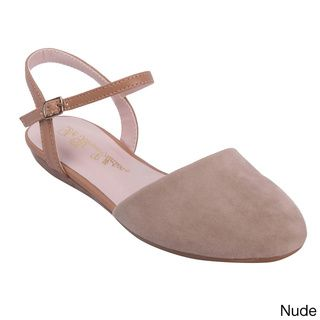 @Overstock.com - Blossom Women's Beyond-2 Closed Toe Sandal Flats - These sandal style flats from Blossom feature a closed toe, faux suede upper and buckled ankle strap. A cushioned sole offers comfortable dressing.  http://www.overstock.com/Clothing-Shoes/Blossom-Womens-Beyond-2-Closed-Toe-Sandal-Flats/8704615/product.html?CID=214117 $41.99