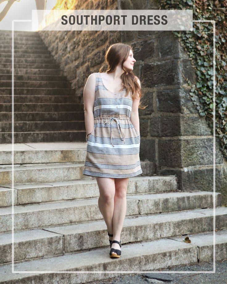 The Southport dress is a tank style dress designed to be worn as a coverup at the beach or a dress for around town. It has a button opening at...
