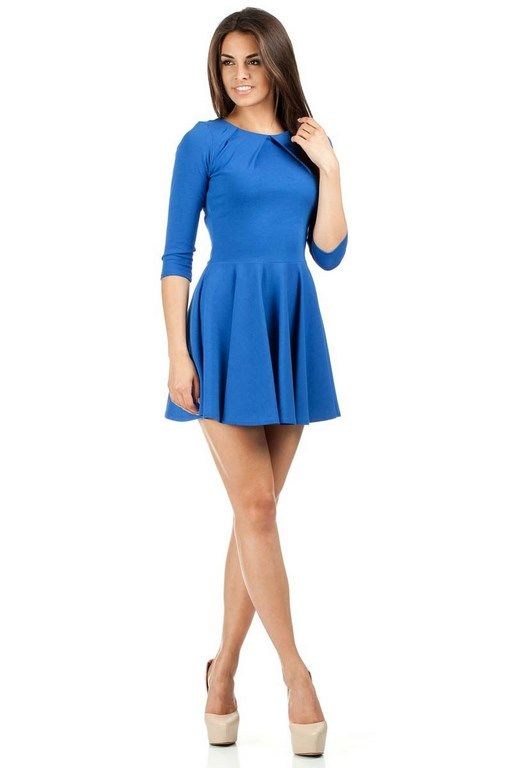 Sexy blue dress with a globed fashion
