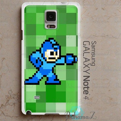 Mega Man Minecraft Patterns Samsung Galaxy Note 4 Case