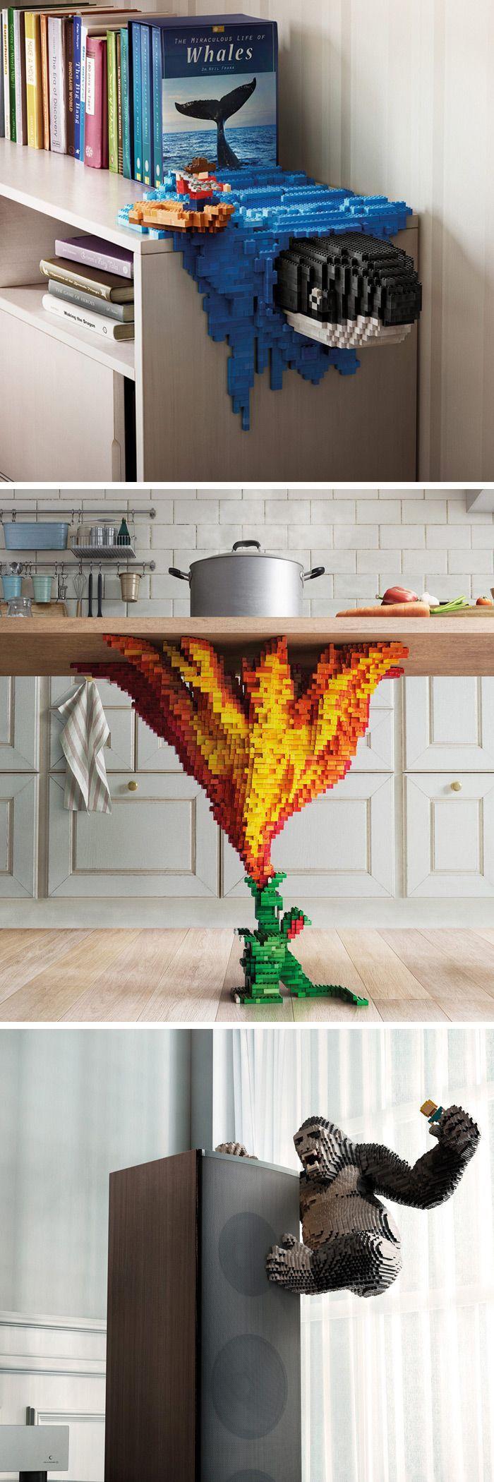 Kreative Lego-Konstruktionen erwecken fantastische Momente zum Leben