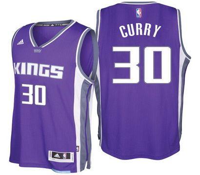Sacramento Kings #30 Seth Curry 2016-17 Seasons Road New Swingman Jersey Purple