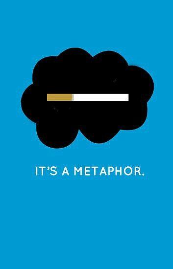 Yeah. It's a metaphor :)