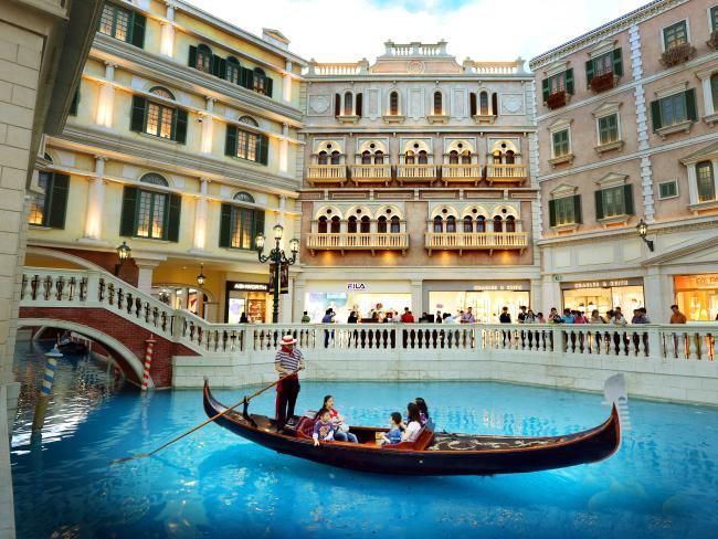 Macau: More to see than gambling, including waterways through the Venetian Casino and its shopping area #travel #holidays #escape