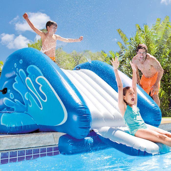 Intex 58849ep Pool Splash Water Slide The Pool Supplies Superstore Pool Supplies Superstore Splash Swimming Pool Inflatable Pool Pool Water Slide