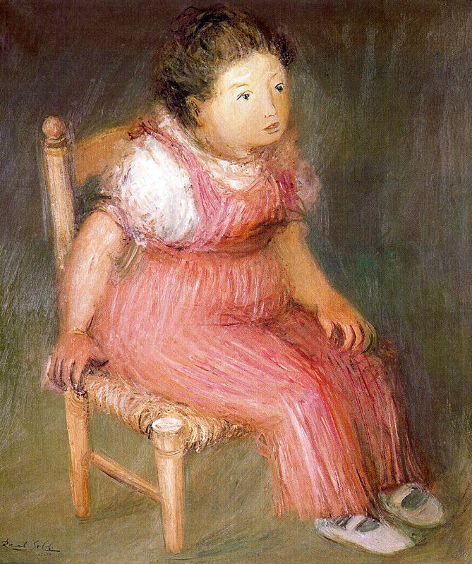 """Raúl Soldi  """"La niña gorda"""" 1950"""