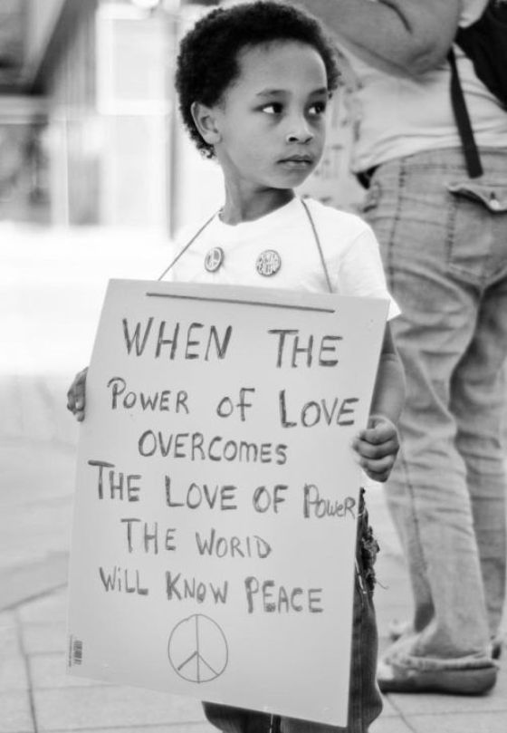 When the power of love overcomes the love of power then the world will know peace.