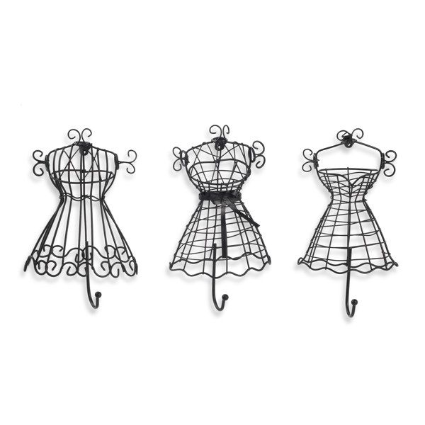 Black Wire Dress Hooks (Set of 3 For my daughters fashion Paris themed room!!