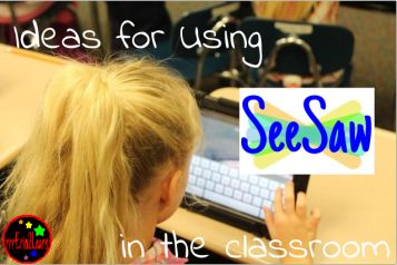 Use SeeSaw in the classroom for so much! Get some ideas! This is such a student/teacher/parent friendly piece of technology!