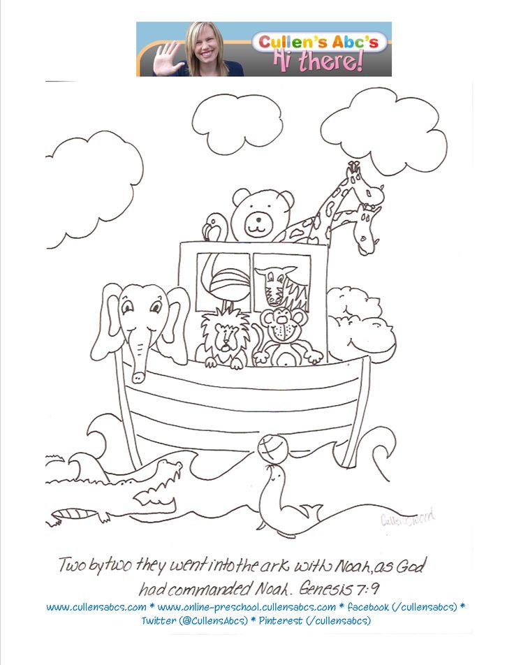Noah 39 s Ark Coloring Sheet You