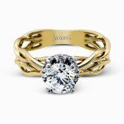 "Simon G Braided Shank Solitaire Diamond Engagement Ring Style # MR2511	"" """
