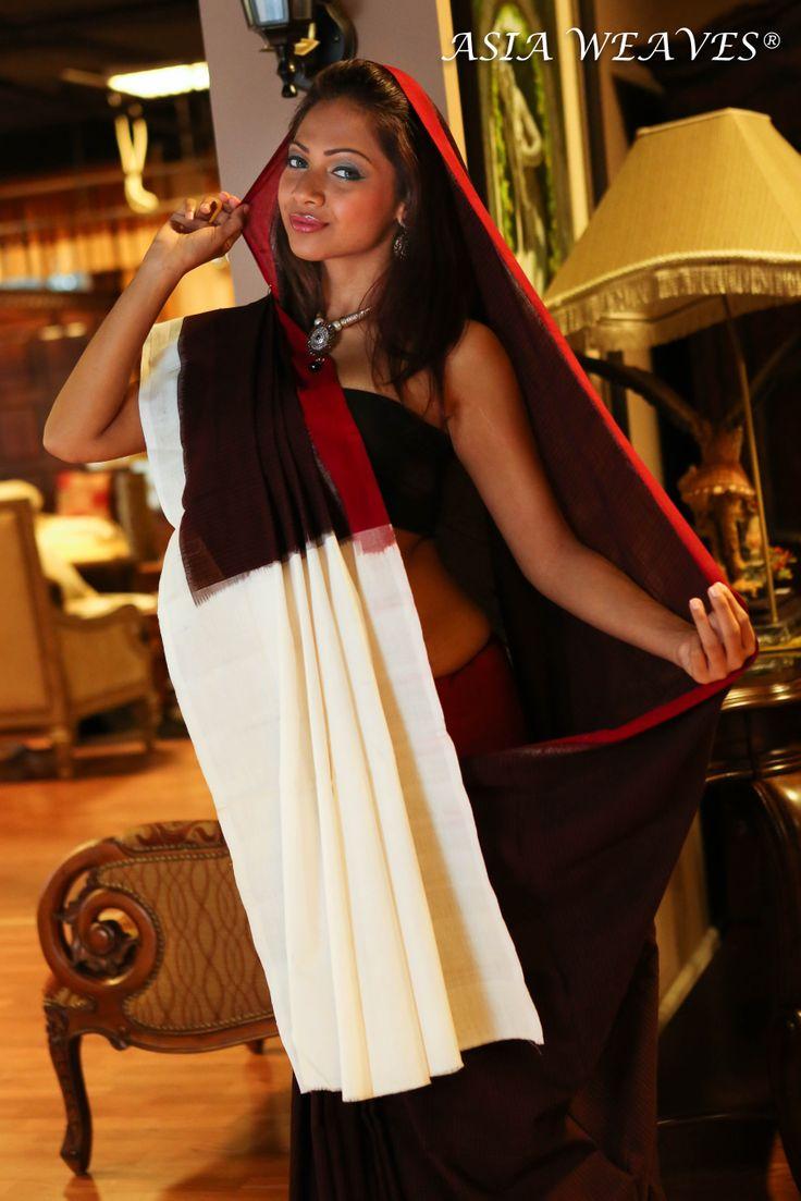 A handwoven Ikat saree