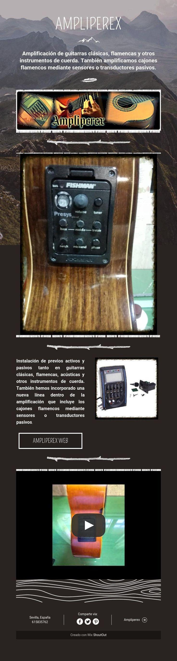 Amplificación de guitarras y otros instrumentos de cuerda
