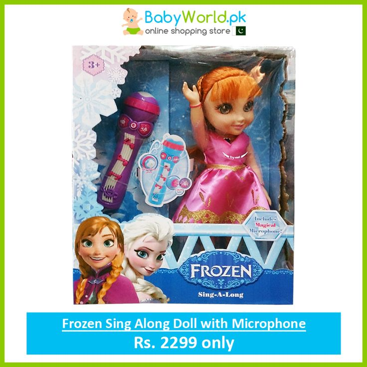 Order Online > http://babyworld.pk/toys/1798-frozen-sing-along-doll-with-microphone.html