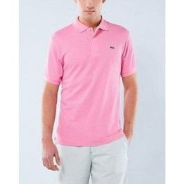 Men Polo Shirt, Short Sleeve, Light Pink Color