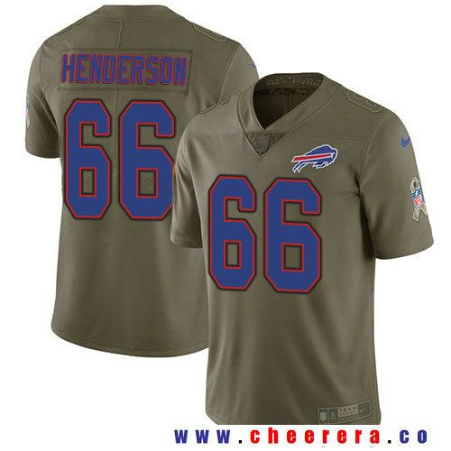 Men's Buffalo Bills #66 Seantrel Henderson Olive 2017 Salute To Service Stitched NFL Nike Limited Jersey