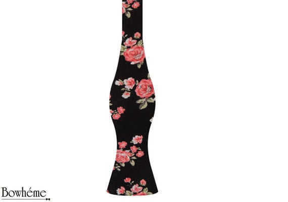 Womens Self tied floral bow tieMIMI.#bowtie #bow #tie #fashion #womens #gift by Bowheme, $9.50