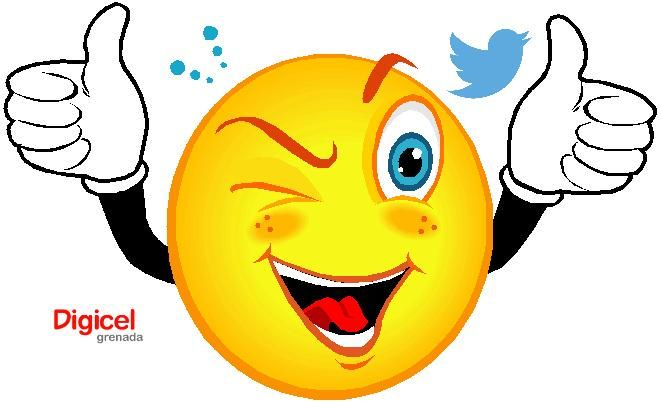 CONGRATS TWITTER LOGO SMILEY WINK AND THUMBS UP