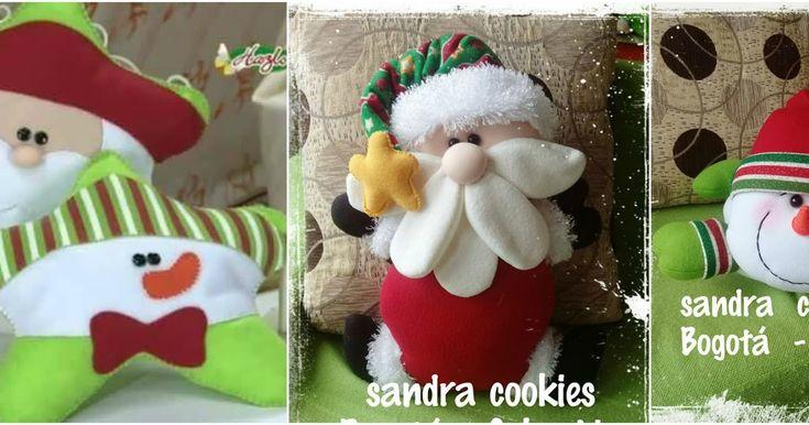 Tutorial de Cojines y muñecos navideños con moldes para hacer
