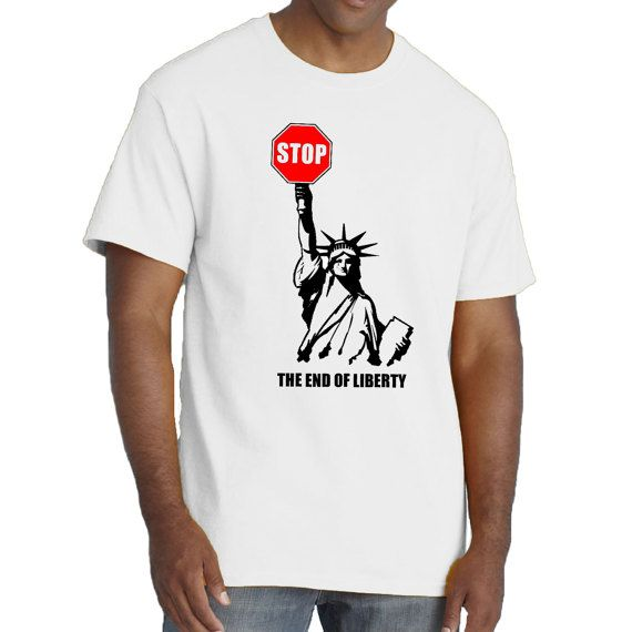 The End of Liberty T-shirt. Crying Statue of Liberty by SillyTees