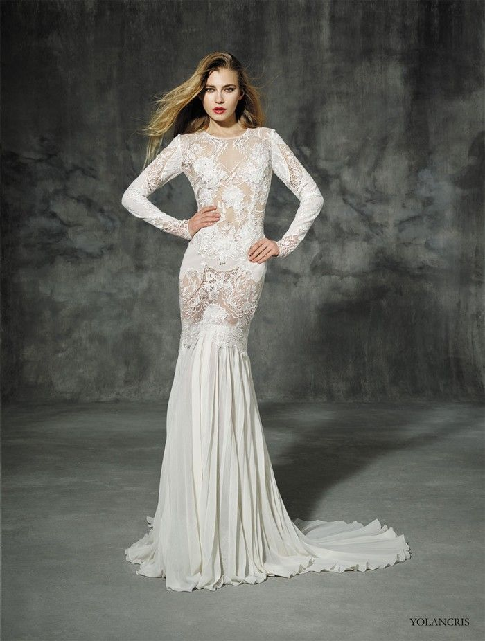 Yolancris Long Sleeve Wedding Dress : Curated yolan cris ideas by altamodabridal modest wedding dresses