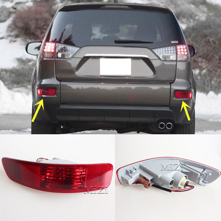 1 Pair Right And Left Rear Bumper Light Tail Fog Light Lamp Reflector Fit for Mitsubishi Outlander 2007-2010 2011 2012