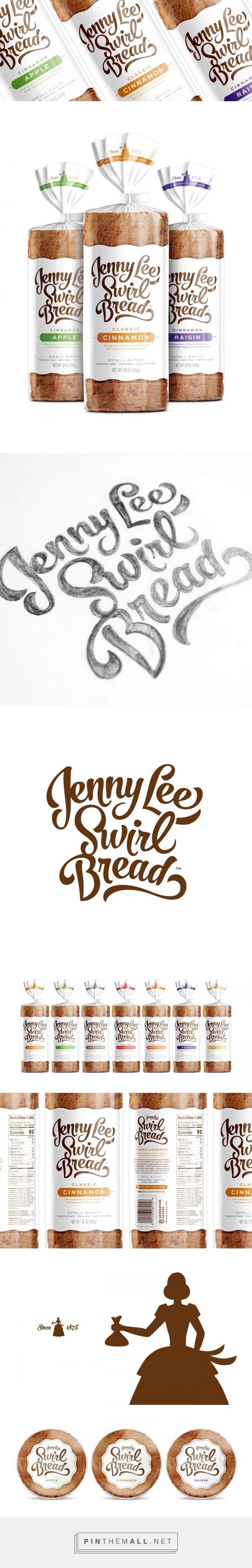 Jenny Lee Swirl Bread - Packaging of the World - Creative Package Design Gallery - http://www.packagingoftheworld.com/2017/01/jenny-lee-swirl-bread.html