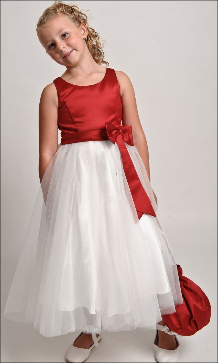 Kids Red Bridesmaid Dresses