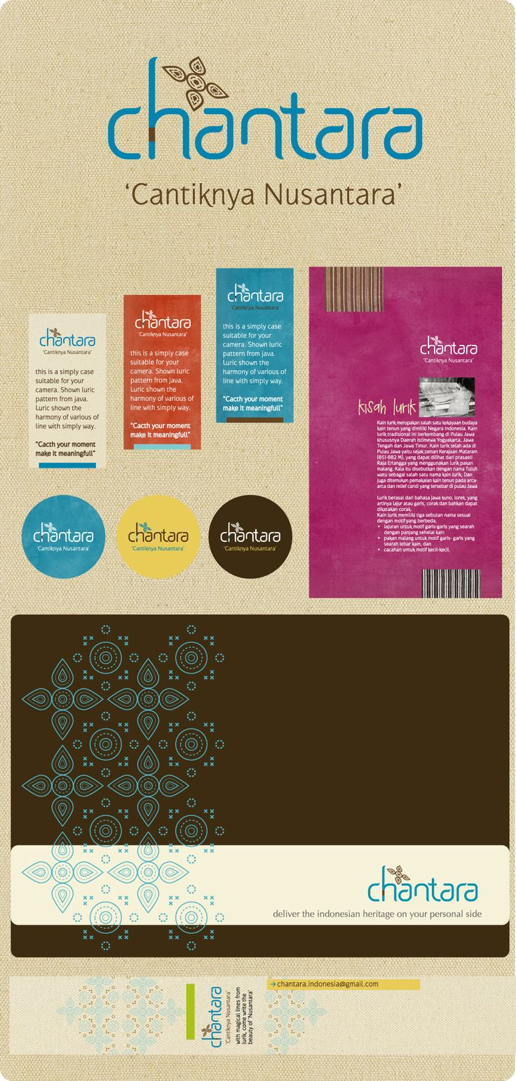 Chantara is about making values from Indonesian traditional fabric or ornament. Chantara making many project such as stationary, planner, bag, case etc