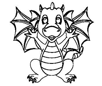 dráček, drak - motiv potisk, tričko omalovánka ( antistresová omalovánka) T-ART.CZ