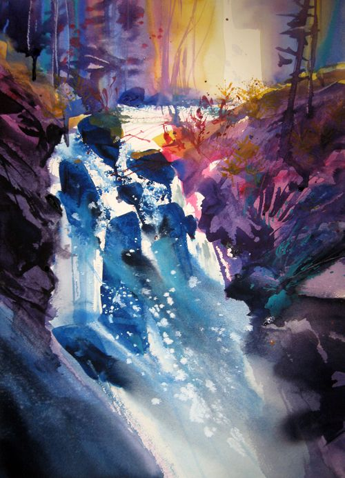 Waterfall Paintings, Contemporary