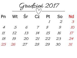 agnieszkapasjonata: 707. Kartki z kalendarza 2017... darmowe digi