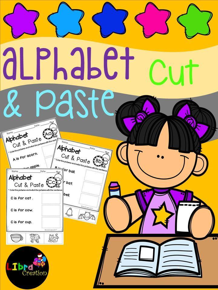 Alphabet Product, Alphabet Activities, Alphabet Fun Activities, Alphabet, Alphabet Cut & Paste, Pre-K, Kindergarten, 1st Grade