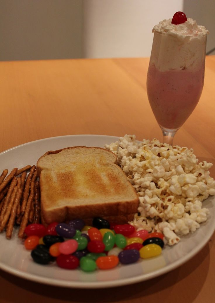 The Charlie Brown Thanksgiving Meal! Perfect! Down to the last detail- pretzel sticks instead of regular twists, and the pink drink on the side!!! SO CUTE