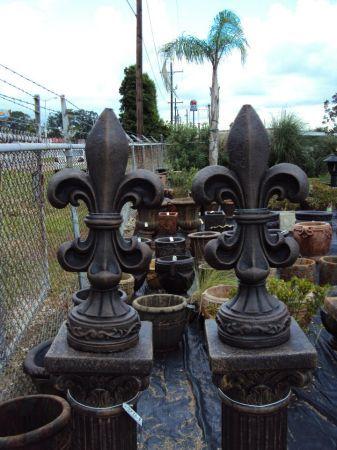 Cast Stone Fleur De Lis Finials Made in the USA