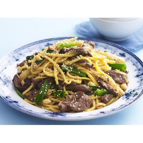 Honey sesame beef stir-fry recipe. #Noodles #Asian #Beef #Main stir-fry