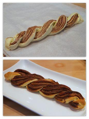 Tresse au Nutella pour le gouter http://www.cuisineeliseetjulie.com/products/tresse-feuilletee-au-nutella/