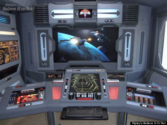 Steve Doman made several rooms that resemble Star Trek. They are incredible!