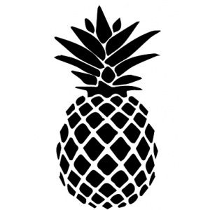 Rubber stamp - Pineapple