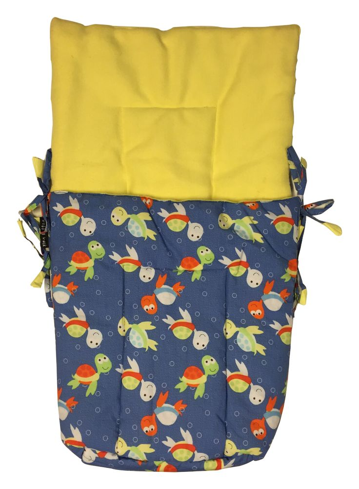 Buy warm and soft turtle print baby sleeping bag with yellow fleece online in India at affordable price from Wobbly Walk.✓ Made in India ✓ Free Shipping.